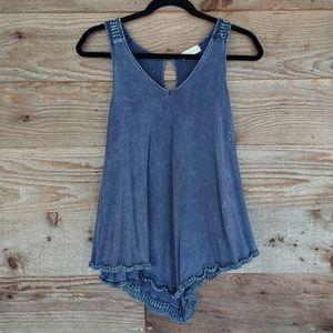 Altar'd State Blue Flowy Tank Top Size Small